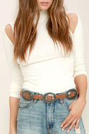 Missoula Silver and Tan Double Buckle Belt 2