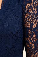 Awaken My Love Navy Blue Long Sleeve Lace Maxi Dress 6