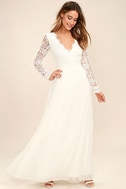 Awaken My Love White Long Sleeve Lace Maxi Dress 3