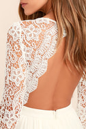 Awaken My Love White Long Sleeve Lace Maxi Dress 5