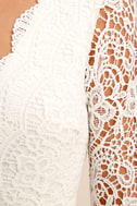 Awaken My Love White Long Sleeve Lace Maxi Dress 6