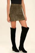 Dolly Black Suede Over the Knee Boots 1