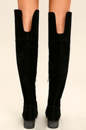 Dolly Black Suede Over the Knee Boots 4