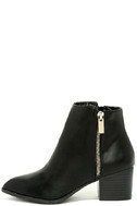 Illusion Black Pointed Ankle Booties 2