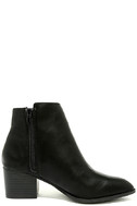 Illusion Black Pointed Ankle Booties 4