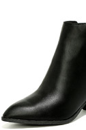 Illusion Black Pointed Ankle Booties 6