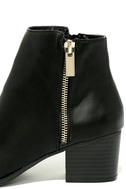 Illusion Black Pointed Ankle Booties 7