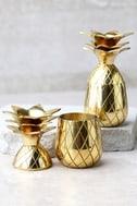 The Pineapple Co. Gold Pineapple Shot Glass Set 1