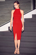 Outstanding Features Red Midi Dress 2