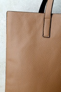 Living for the Weekend Beige and Brown Reversible Tote 4