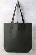 Living for the Weekend Light Grey and Charcoal Reversible Tote 2