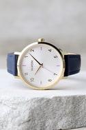 Nixon Arrow Grey and Navy Leather Watch 2