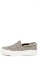 Steve Madden Gills Grey Suede Leather Flatform Sneakers 1