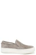 Steve Madden Gills Grey Suede Leather Flatform Sneakers 4