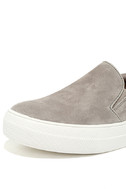 Steve Madden Gills Grey Suede Leather Flatform Sneakers 6