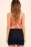 Pop and Lock Dark Wash Denim Mini Skirt 3