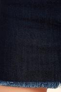 Pop and Lock Dark Wash Denim Mini Skirt 6