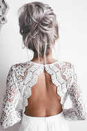 Awaken My Love White Long Sleeve Lace Maxi Dress 7