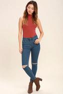 Amuse Society Iconic Medium Wash Distressed Skinny Jeans 1
