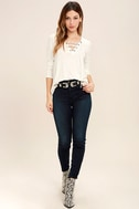 Love Song Ivory Long Sleeve Lace-Up Top 2