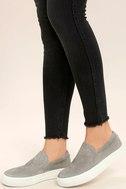 Steve Madden Gills Grey Suede Leather Flatform Sneakers 2