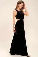 Reach Out Black Velvet Maxi Dress 2
