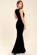 Reach Out Black Velvet Maxi Dress 3