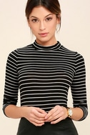 Anything is Posh-ible Black Striped Top 1