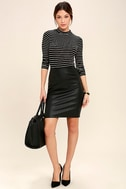 Anything is Posh-ible Black Striped Top 2