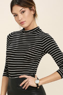 Anything is Posh-ible Black Striped Top 3