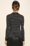 Anything is Posh-ible Black Striped Top 4