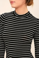 Anything is Posh-ible Black Striped Top 5