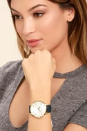 Nixon Arrow Grey and Navy Leather Watch 4