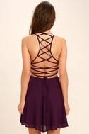 Good Deeds Plum Purple Lace-Up Dress 4