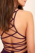 Good Deeds Plum Purple Lace-Up Dress 5