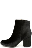 Annette Black Velvet Ankle Booties 2