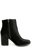 Annette Black Velvet Ankle Booties 4