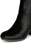 Annette Black Velvet Ankle Booties 6