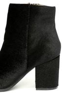 Annette Black Velvet Ankle Booties 7