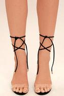 Maricela Black Suede Lace-Up Heels 2