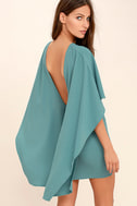 Best is Yet to Come Turquoise Blue Backless Dress 1