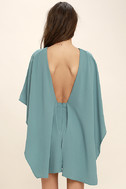 Best is Yet to Come Turquoise Blue Backless Dress 4