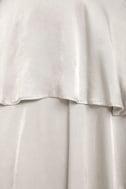 Celebrate the Occasion Silver Satin Maxi Skirt 6