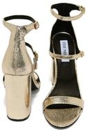 Steve Madden Parrson Gold Ankle Strap Heels 3
