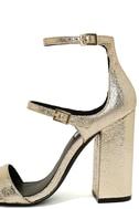 Steve Madden Parrson Gold Ankle Strap Heels 7