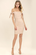 Cause a Commotion Blush Pink Off-the-Shoulder Dress 3