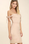 Cause a Commotion Blush Pink Off-the-Shoulder Dress 4
