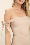 Cause a Commotion Blush Pink Off-the-Shoulder Dress 6
