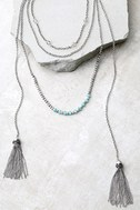 Extraordinary Talent Blue and Silver Layered Necklace 2