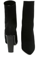 Steve Madden Capitol Black Knit Mid-Calf High Heel Boots 3